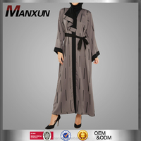 New Model Abaya in Dubai Women Printing Jubah with Waist Belt abaya jilbab islamic clothing