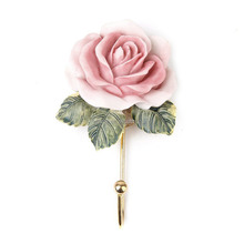 Lovely Rose Decor Wall Mounted Towel Hanger Cute Cloud Adhesive Sticky Stick Holder Pink Kitchen Bathroom Towel Hangers
