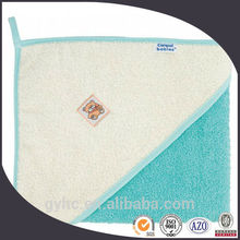 wholesale high quality 100% cotton terry hooded baby towel