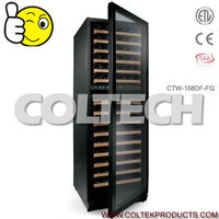 168 Bottles Dual zone Wine cooler ,top 5 manufacture in china