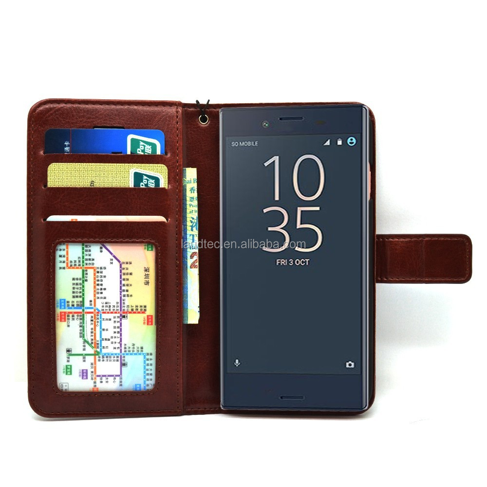 Wallet Case Premium Magnetic Closure Protective Stand Flip Cover Case for Sony Xperia XZ