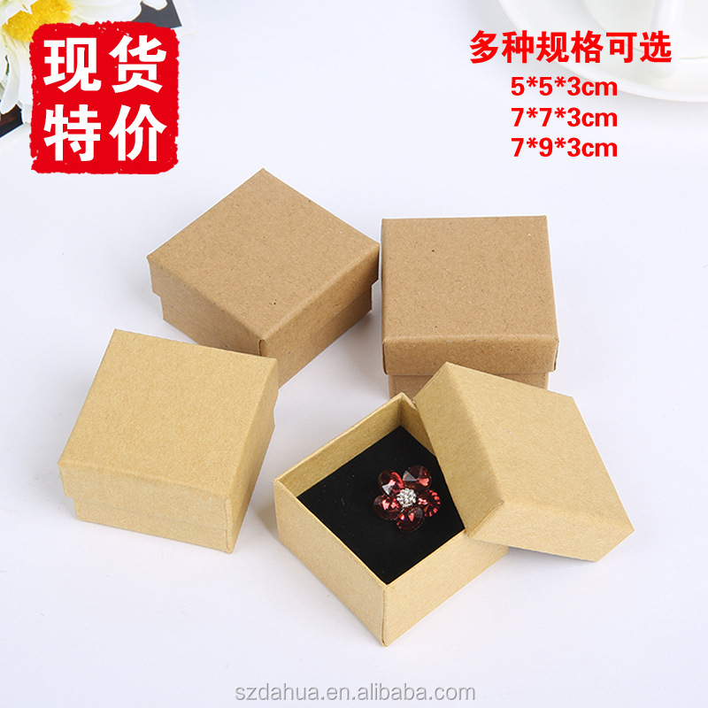 jewellery box cardboard kraft custom logo printed jewelry boxes kraft jewelry boxes