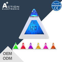 Colorful LED Changed Promotion Digital LCD Table Alarm Clock