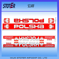 Poland Polish Polska Scarf , Poland National Patriotic Scarve