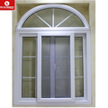 pvc arch window grill design with construction materials price list