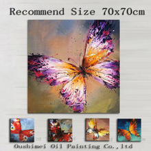 Professional Artist Hand-painted Small Animals Oil Painting On Canvas Handmade Beautiful Insect Animal Butterflies Oil Paintings