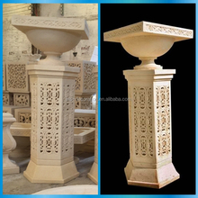 Cast stone pillars stands flowers