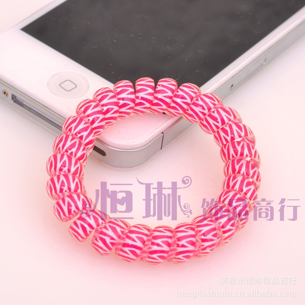 Hot sale wholesale cartoon Girls Elastic hair Band,telephone wire hair band,hair string