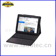 Black Bluetooth Wireless Keyboard Leather Case for iPad 3