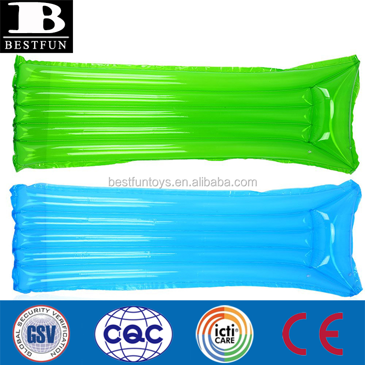 high quality inflatable sunbed outdoor water hammock single inflatable beach lounger folding inflatable water mattress