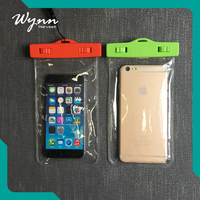 High quality custom pvc waterproof zip lock bag for cell phone
