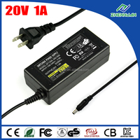 DC power supply 20V 1A switching adapter 100-240V desktop type
