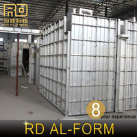 RD alibaba High Standard Aluminum Alloy building material for concrete formwork sell to India for aluminum formwork