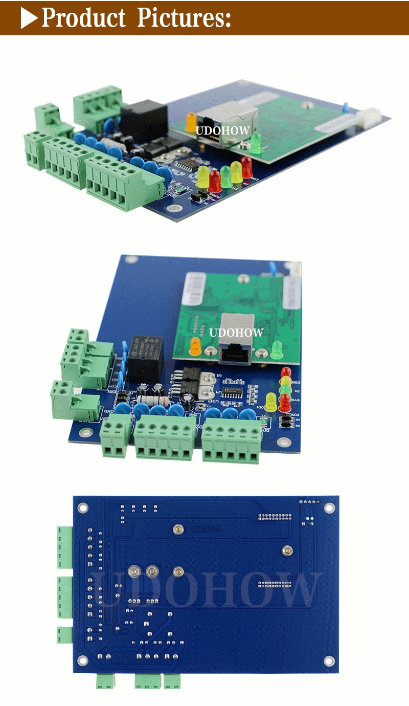 TCP/ IP single door access controller board