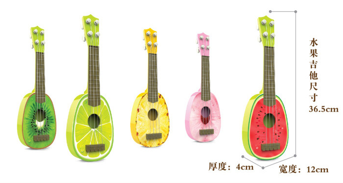 Cheap Plastic Crystal Musical Instruments Stuffed Guitar block toy