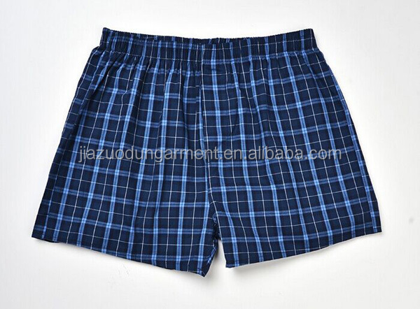 Mens Underwear Boxers Shorts Cueca Cotton Underpants Male High Quality Brands Plaid Loose Comfortable Home Panties Plus Size 3XL