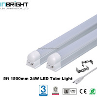 Aluminum 6000K 1500mm T5 T8 24W 5ft LED Fluorescent Tube