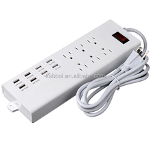6 us power plug socket track brazil power socket bar solar extension socket 8 multi ports usb