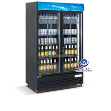 Upright freezer refridgerator glass door used refrigerated display