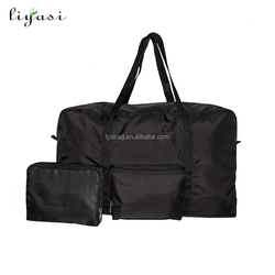 Cheap low price simple foldable luggage polyester fabric travelling bag
