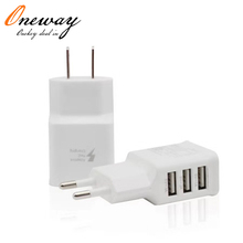 3 ports mobile phone usb wall charger for samsung