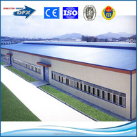 large wide and one two three layers prefabricated light steel structure warehouse for construction