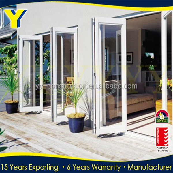 aluminium bifold screens / doors for houses / commercial accordion folding doors