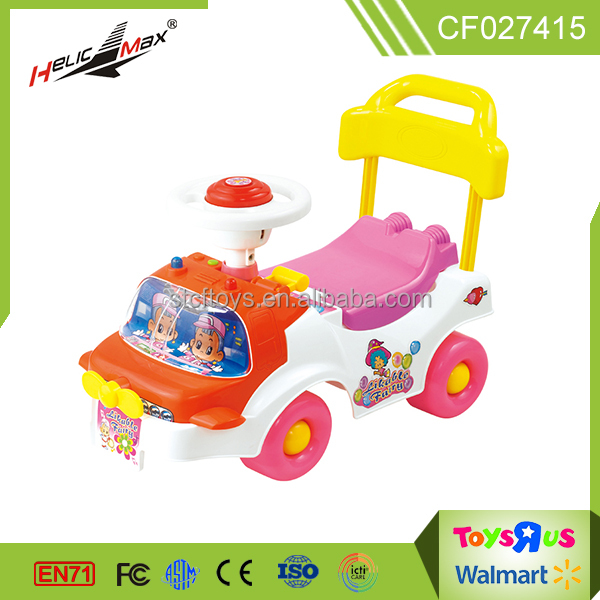 Hot sale sound and music baby walker four wheel steering free wheel ride on car children toys car