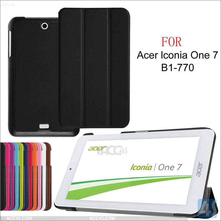 new arrival Ultrathin 3 folding flip Leather Case for Acer Iconia One 7