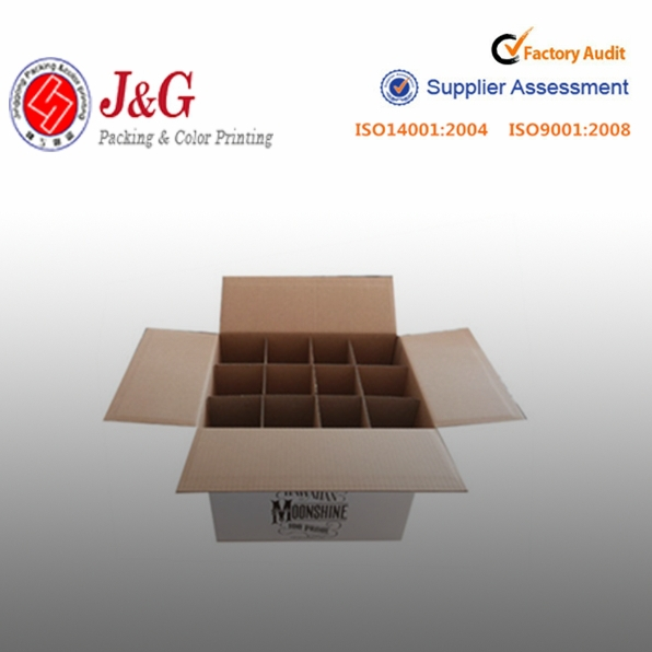 box with compartments cardboard