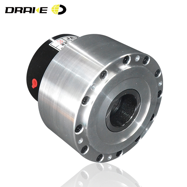 Single piston rotating open-center air cylinder for cnc metal shaping lathes
