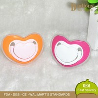 Liquid Silicone Baby Pacifier With Cover Heart Shape with Rings
