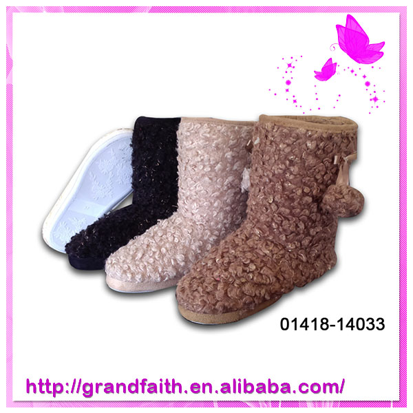 2014 New Design ladies winter ankle boots