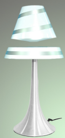 New Invention! white color Levitating And Rotating LED Lamp LED Magnetic Levitation Lamp