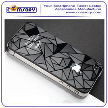 For iPhone 4 4S 3D Diamond Phombus Protective film Water Cube mirror screen protector