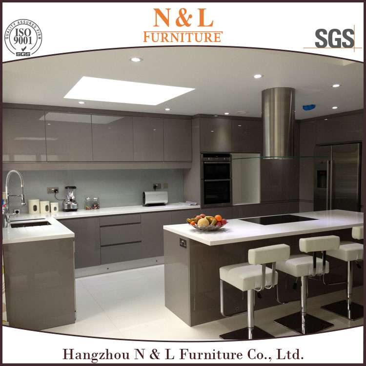 customized modern kitchen,high gloss lacquer finish kitchen cabinets,red color modular kitchen cupboard with cheap price