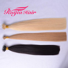 Wholesale European Hair Extension Double Drawn Remy Russian Nano Ring Hair Extension