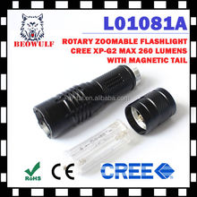 led rechargeable 3aaa led torch flashlight maglite
