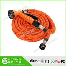 Portable canvas water jet garden hose with on-off valve