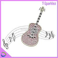 guitar transfer design wholesale iron on letters rhinestone heat transfer