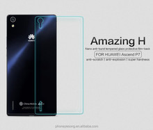 Factory price mobile phone Tempered Glass Screen protector/film for HUAWEI Ascend P7 back