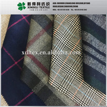 2017 Check herringbone poly wool suit blend fabric for man and women