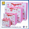 Fancy Design Popular Different Sizes Ribbon Handle Gift Bags