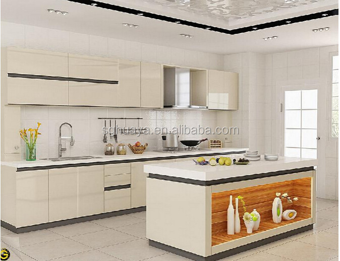 Particleboard Carcase and MDF Door Material Modern Lacquer Kitchen cabinet