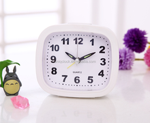 Square shape plastic customized table alarm clock with light