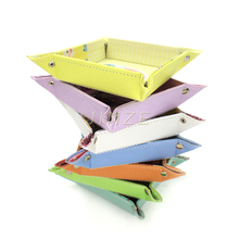 Ornamental Elegant Shape Pretty And Colorful Dry Fruit Decoration Leather Tray