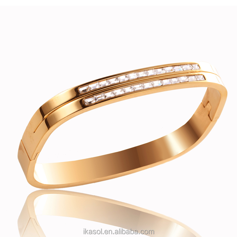 made in china 2016 wholesale gold plated product sikh kara