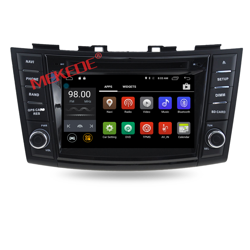 "8"" 2-din Factory price Android 7.1 Car GPS navigation radio for Suzuki Swift 2011-2015 with dvd player 4G WIFI BT 2GRAM"