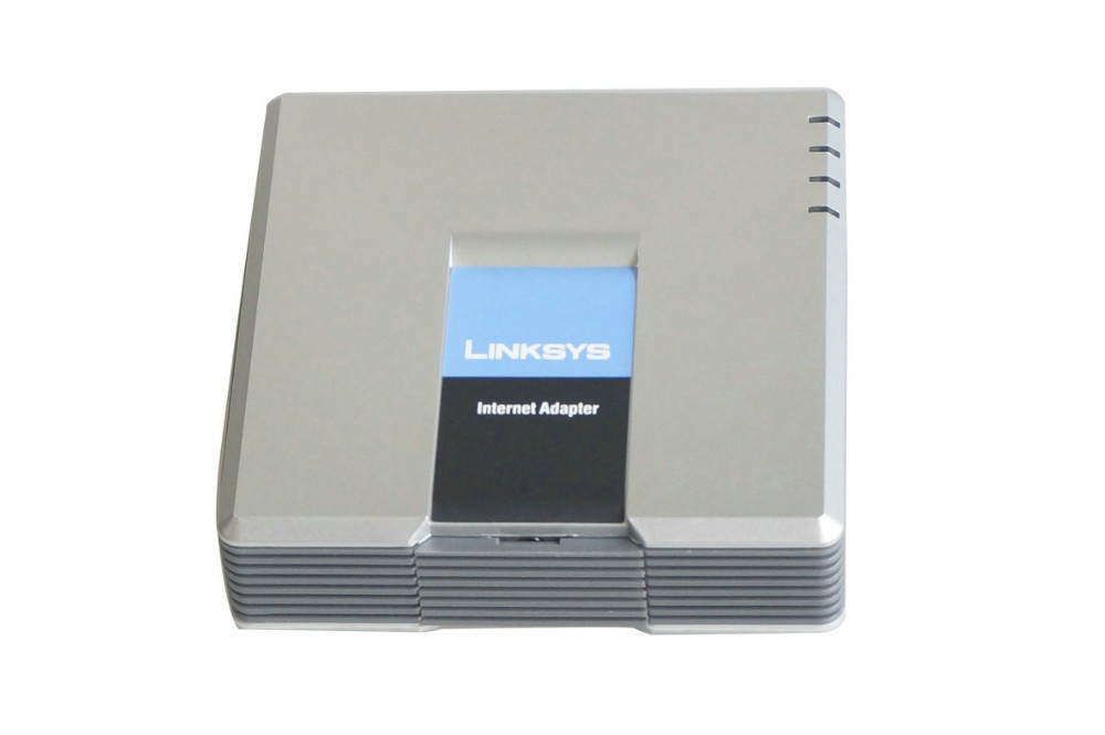 Unlocked with 100% Brand new Linksys pap2t-na ,voip adapter