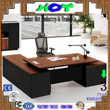 Modern high quality L shape full melamine office table executive CEO desk office desk